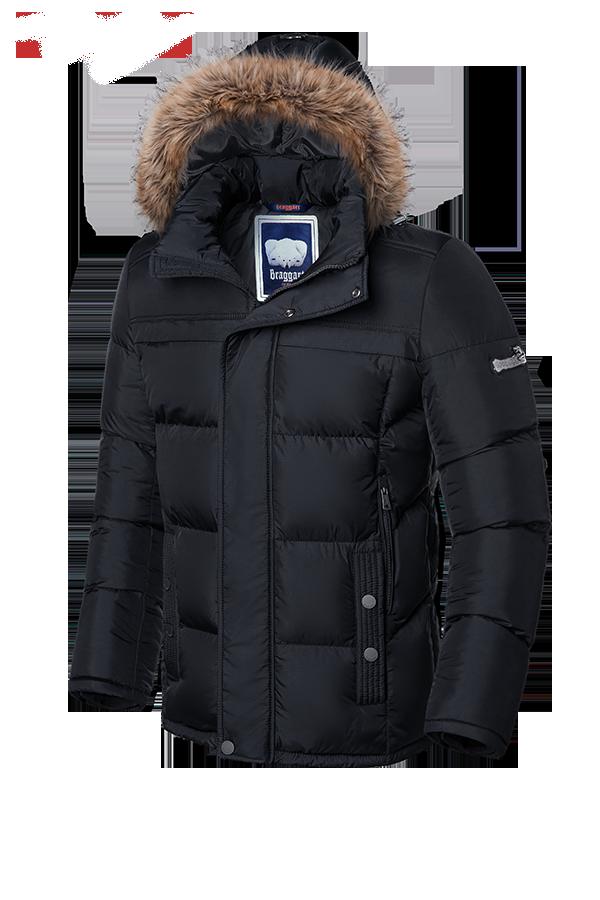 Черная мужская зимняя куртка Braggart (р. 46-56) арт. 3145