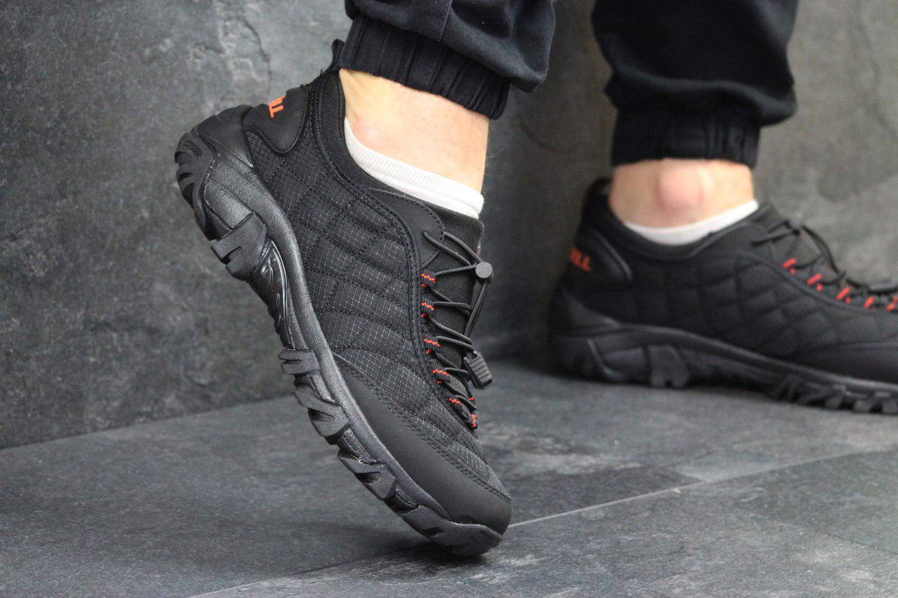 Мужские кроссовки Merrell (черные с красным), ТОП-реплика