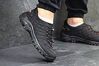 Мужские кроссовки Merrell (черные с красным), ТОП-реплика, фото 1