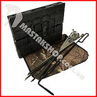 Мангал-чемодан 6+чехол+шампура+кочерга, фото 1