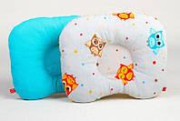Подушка ортопедическая детская BabySoon Забавные совушки и бирюза 22 х 26 см (156)