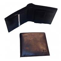 Кожаные мужские портмоне (каштан)10*12см