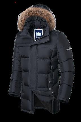 Мужская графитовая зимняя куртка с мехом Braggart (р. 46-56) арт. 3226, фото 2