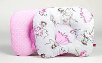 Детская ортопедическая подушка BabySoon Балерины и горошек на розовом 22 х 26 см (157)