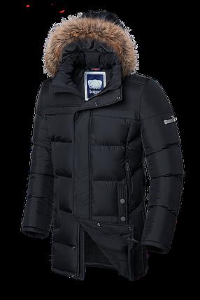 Мужская черная зимняя куртка с мехом Braggat (р. 46-56) арт. 3226, фото 2