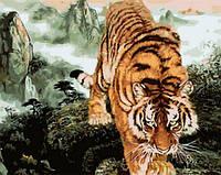 Картины по номерам 40×50 см. Взгляд хищника