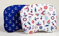 Детская подушка ортопедическая BabySoon Морские мотивы 22 х 26 см (158)