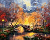 Картина по номерам 40×50 см. Центральный парк осенью Художник Томас Кинкейд
