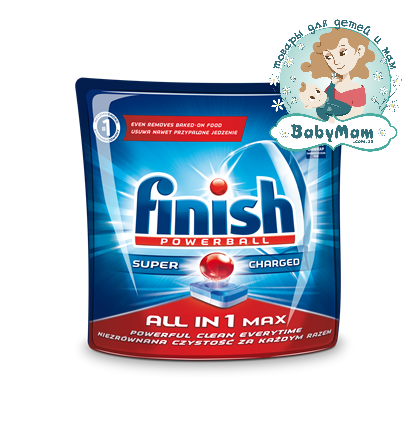 Таблетки для ПММ Finish ALL in 1 Max, 22 шт.