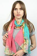 Необычный легкий шарф в цветы