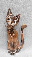 Статуєтка кошка деревянная высота 30 см