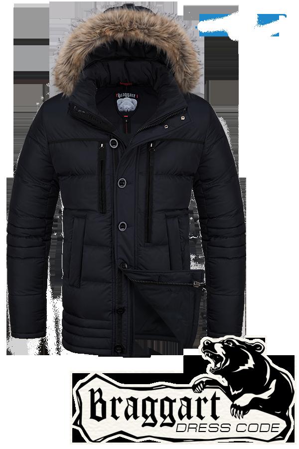 Мужская зимняя куртка с капюшоном Braggart арт. 1519