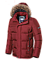 Мужская красная зимняя куртка с мехом Braggart (р. 46-56) арт. 3145