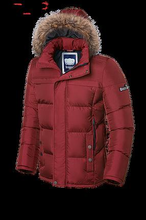 Мужская красная зимняя куртка с мехом Braggart (р. 46-56) арт. 3145, фото 2