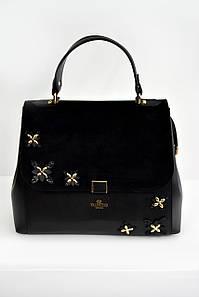 Женская сумка Valentino с клапаном черная