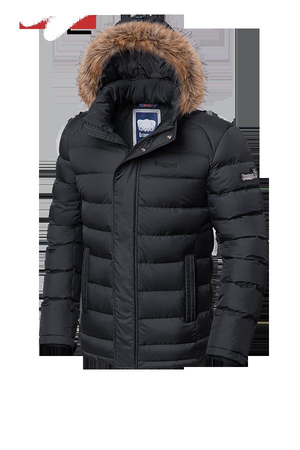 Мужская теплая зимняя куртка с мехом Braggart (р. 46-56) арт. 3612