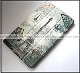 Чехол книжка с Эйфелевой башней для Lenovo Tab 4 8 Plus TB-8704X эко кожа (Париж), фото 2