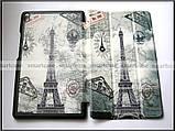 Чехол книжка с Эйфелевой башней для Lenovo Tab 4 8 Plus TB-8704X эко кожа (Париж), фото 4