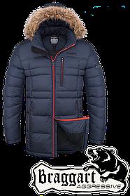 Мужская темно-синяя зимняя куртка Braggart арт. 4206