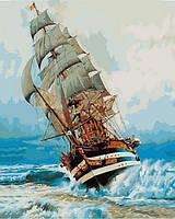 Раскраска по цифрам 40×50 см. Америго Веспуччи итальянское учебное парусное судно, фото 1