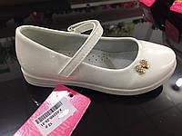 Детские белые лаковые туфли для девочек оптом Размеры 26-31