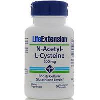 N-Ацетил-L-Цистеин (АЦЦ) 600 мг 60 капс антиоксидант  противовирусный от кашля Life Extension USA