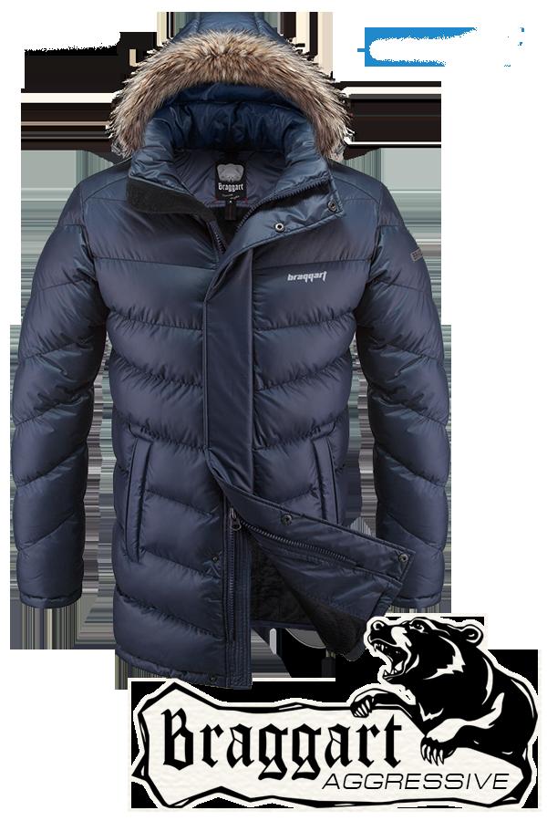 Мужская синяя зимняя куртка Braggart арт. 3877