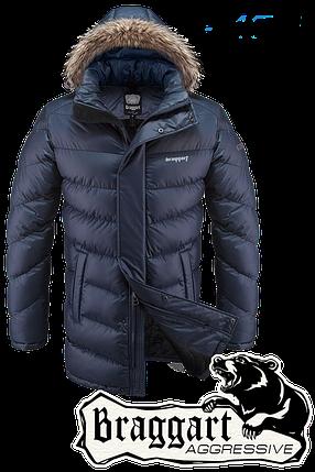 Мужская синяя зимняя куртка Braggart арт. 3877, фото 2