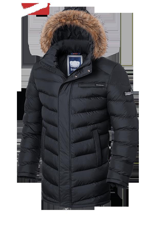 Мужская зимняя куртка с мехом Braggart (р. 46-56) арт. 3155