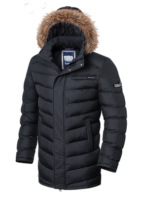 Мужская зимняя куртка с мехом Braggart (р. 46-56) арт. 3155, фото 2
