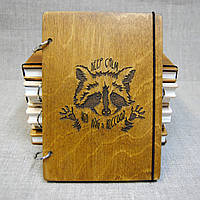 Скетчбук A5. Блокнот с деревянной обложкой., фото 1