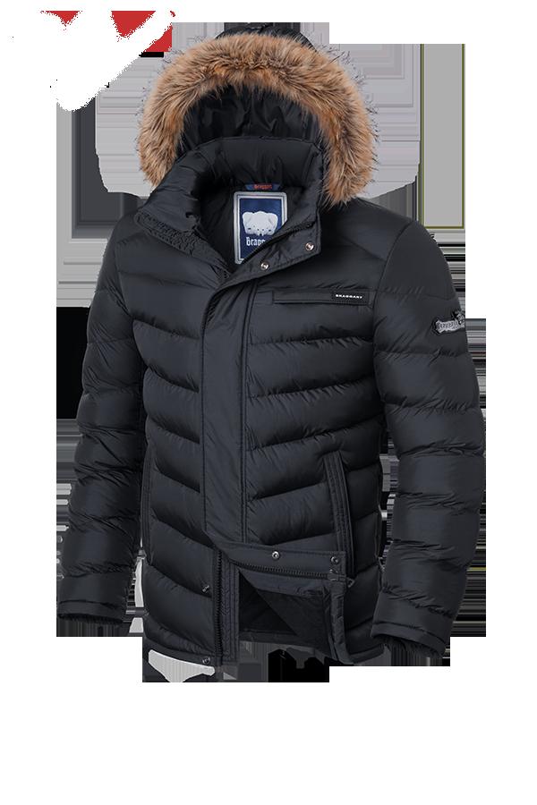 Мужская зимняя куртка графит Braggart Aggressive (р. 46-56) арт. 4219