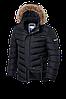 Теплая черная мужская зимняя куртка Braggart Aggressive (р. 46-56) арт. 4219