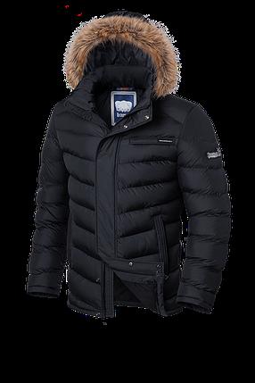Теплая черная мужская зимняя куртка Braggart Aggressive (р. 46-56) арт. 4219, фото 2