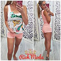 Летняя пижама шорты и майка Турция