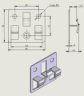 Клипса для террасных и фасадных систем
