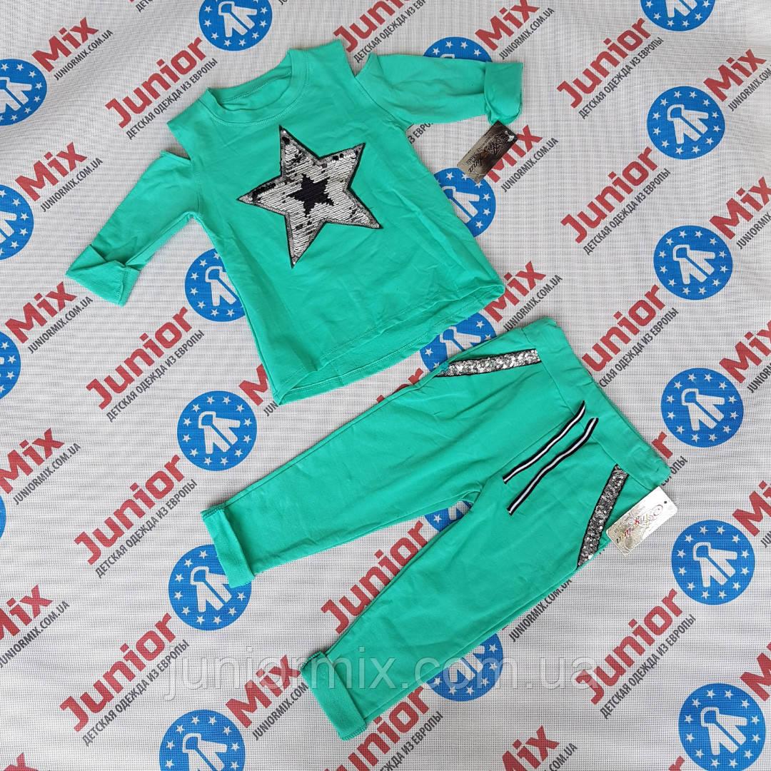 Трикотажный модный детский костюм для девочек оптом Angelina