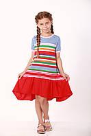 Платье с красными полосками