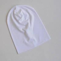 Детская шапка бини. Белый. Все размеры от 42см.