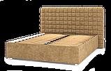 Кровать-подиум Квадро Люкс Sofyno на ламелях с высоким изголовьем, фото 2
