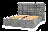 Кровать-подиум Квадро Люкс Sofyno на ламелях с высоким изголовьем, фото 3