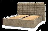 Кровать-подиум Квадро Люкс Sofyno на ламелях с высоким изголовьем, фото 4