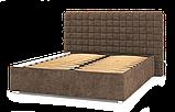 Кровать-подиум Квадро Люкс Sofyno на ламелях с высоким изголовьем, фото 5