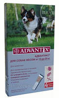 Адвантикс д/соб 10-25кг (4пип в уп. цена за пип. ) Байер. Германия.