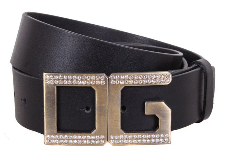Кожаный модный ремень с стильной пряжкой, женский 120х4 см. QS2203-55, черный