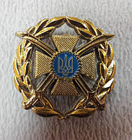 Кокарда на берет Сухопутних войск ЗСУ НОВАЯ( пластик)