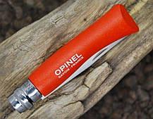 Нож Opinel (опинель) Inox Pop Orange Tangerine No.07 001426 (Граб), фото 3