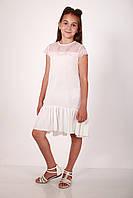 Платье белое с короткими рукавами, фото 1