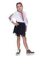 Вишиванка Гоночка для дівчинки з елегантним візерунком, фото 1