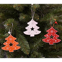 """Новогодняя подвеска на елку """"Елка"""" NG273, 10*10 см, MDF, Новогодние сувениры, Украшения новогодние, Игрушки на елку"""
